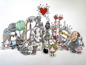 Personajes de La melancólica muerte de Chico Ostra - Tim Burton